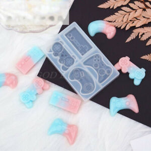 4-Styles Game Consoles Handle Pendant Silicone Resin Mold Game Controller Mo*hl