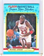 1988 FLEER BASKETBALL STICKER #7 MICHAEL JORDAN CHICAGO BULLS NBA HOF NRMT+