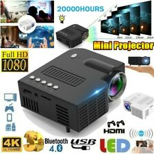 Portable HD 1080P Mini Video Projector LED Home Theater Projector 360/480P/1080P