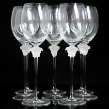 "(8) Rosenthal Versace Crystal ""Medusa Lumiere"" White Wine Glasses Lot 15"