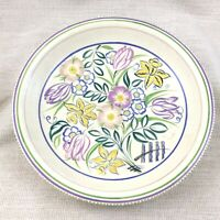 Vintage Poole Pottery Bowl Large Dish Plated Hand Painted Signed Mid Century