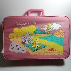 "Vtg 1986 Care Bears ""Setting Sail For Grandma's"" Pink Kids Suit Case 18"" x 11.5"""