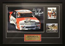 PETER BROCK BATHURST HOLDEN VK COMMODORE SIGNED FRAMED MOTOR RACING MEMORABILIA
