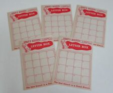 Five Game Sheets - Vintage Guest's Biscuits Letter Box Board Game - 1962
