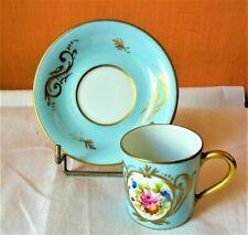 Tasse et sous-tasse anciennes en Porcelaine de marque Giraud Limoges