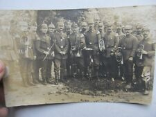 RARE 1917 WWI GERMAN BAND Photograph, Real Photo Postcard, MUSICAL INSTRUMENTS