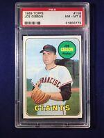 1969 Topps Joe Gibbon #158 PSA 8 San Francisco Giants