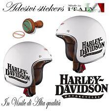 1 ADESIVO STICKERS REPLICA HARLEY DAVIDSON MOTORCYCLES DA CASCO MOTO Cod.AS25