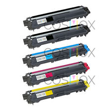Set of 5 TN221 TN225 Compatible Toner Cartridge for Brother HL-3140CW HL-3170CDW