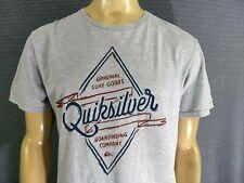 QUIKSILVER T Shirt Grey Mens XL 90% Cotton 10% Polyester SS Original Surf Goods