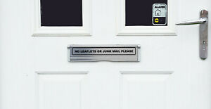 NO LEAFLETS - No Junk Mail - Front Door Letter Box Sign / Sticker