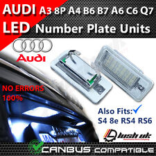* x2 AUDI A3 8P A4 S4 B6 8E RS4 B7 A6 C6 RS6 Q7 DEL License Number Plate Light
