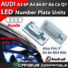 *x2 Audi A3 8P A4 S4 B6 8E RS4 B7 A6 C6 RS6 Q7 LED License Number Plate Light