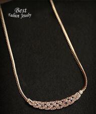 Halskette Kette Collier Fest Hochzeit  Strass Gold glitzert Ketten klar Trend