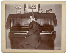 Lady Piano Composer Statuettes Old Folks Young On Porch Antique Photos Illinois