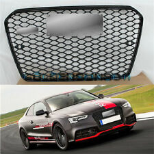RS5 Front Euro Sline Sportback Quattro Gloss Black Grille For Audi A5 S5 13-2016