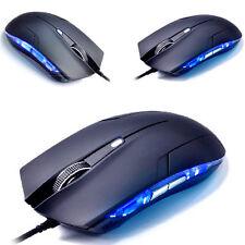 Spiele Mouse mit 6 Tasten Blau Optisch Laser Verkabelte Komputer Gaming Neu!