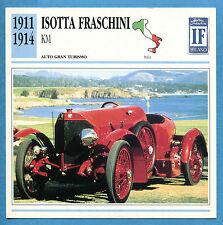 SCHEDA TECNICA AUTO DA COLLEZIONE - ISOTTA FRASCHINI KM 1911-1914