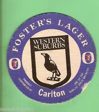 WESTERN SUBURBS MAGPIES   RUGBY LEAGUE BEER COASTER