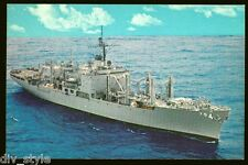 USS White Plains AFS-4 postcard combat stores ship US Navy