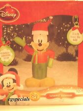 3.5 FT GEMMY CHRISTMAS INFLATABLE LIGHTED MICKEY MOUSE ~ NIB