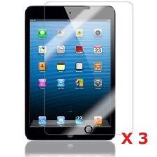 "3 x Clear LCD screen protector gurad per Apple iPad Mini 7,9 ""POLLICI + PANNO GRATIS"
