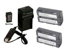 2 Batteries + Charger for Panasonic AG-DVX100 AG-DVX100A AG-DVX100B AG-DVX100BPS