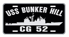 USS BUNKER HILL CG 52 License Plate Military Signs USN 001