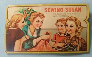 Vintage Sewing Susan Needle Card. Not complete as shown in photos.