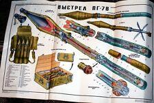 LQQK Amazing Original Soviet Russia USSR PG-7 Rocket Color Poster BUY IT NOW!