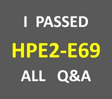 I Passed 164-QA HPE2-E69 - Selling HPE Hybrid IT, Intelligent Edge, and Services