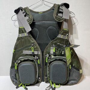 NWT Elkton Outdoors Fly Fishing Vest Backpack Fish ELK-FFV Green Gray New