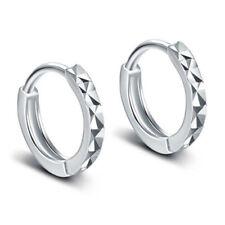 925 Sterling Silver Dimond Cut Huggie Earrings For Fashion Women Jewelry Gifts