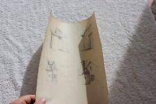 ETUDE DESSIN ETUDIENT EN ARCHITECTURE 1876