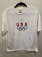 Vintage NIKE Team U.S. Olympic Collection White T Shirt Men's XL