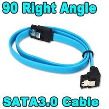 45cm Long Serial ATA SATA III 6GB Right Angled Data Cable Lead Locking Clips CAA