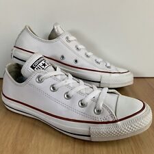 f5bc805877a Converse All Star Chuck Taylor Low Ox Leather White 4 36.5