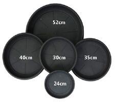 Round Plastic Black Saucers -24cm -Ideal for 6.5 Litre Pots ( pack of 10 )
