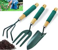 Garden Tools 3 piece Garden Hand Tool Set - Trowel Fork Transplanter Cultivator