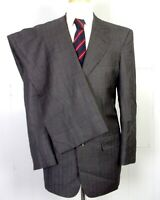 euc Vitale Barberis Canonico Gray Super 110's Bespoke 2 Pc Suit 3 Button 42 L