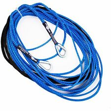 "100' x 3/16"" AmSteel-Blue ATV SXS Extension Synthetic Winch Rope Line 2 Thimble"