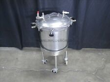 """Pressure Sterilizer 40 L 15"""" Diameter x 14"""" Height on Wheel  Base (Used Tested)"""