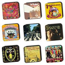Sixties Music Albums Covers 1960's Music - Coasters - Wood - Buy 3 Get 1 FREE