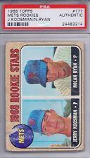 1968 Topps # 177 Mets Rookies Jerry Koosman / Nolan Ryan HOF PSA Authentic