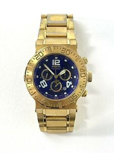 INVICTA Reserve Watch Model 6879 Gold Tone 200m Water Resistant Swiss Diver