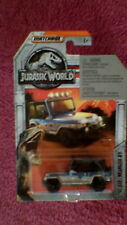 "Matchbox - 1-125 ""Jurassic World"" - '93 Jeep Wrangler #9 - Silver, Blue & Black"