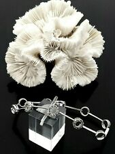 "Custom 10 Karat White Gold 1/2 CTW Diamond Bracelet 7"""