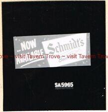 """1950s PA Philadelphia SCHMIDT'S BEER """"Now Available"""" Artist Proof Sketch"""