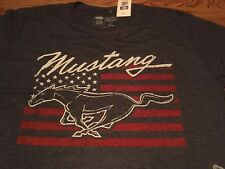 Ford Mustang Patriotic Flag Pony T-Shirt Large - New
