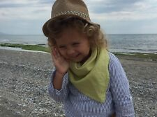 Linen (flax) shawl for kids, Pure linen wrap, Baby bandana bib, Child scarf